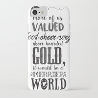 tolkien iPhone & iPod Cases featuring Tolkien quote by Pau Ricart