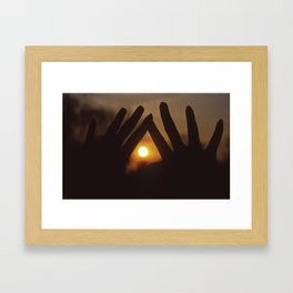 Capture The Sunset Framed Art Print