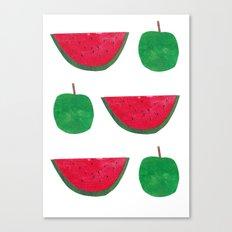 Watermelon & Apple Canvas Print