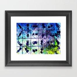 object matchsticks Framed Art Print