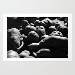 Potatoes Are From Peru b&w Art Print