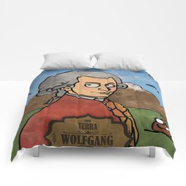 Wolfgang from Earth (Clavicembalo) Comforters