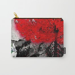 TREE RED WOLF WHITE Carry-All Pouch