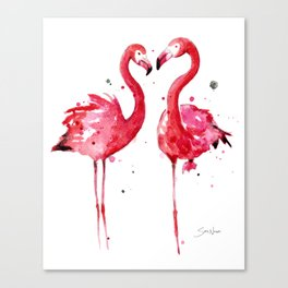 Pink Flamingos Canvas Print