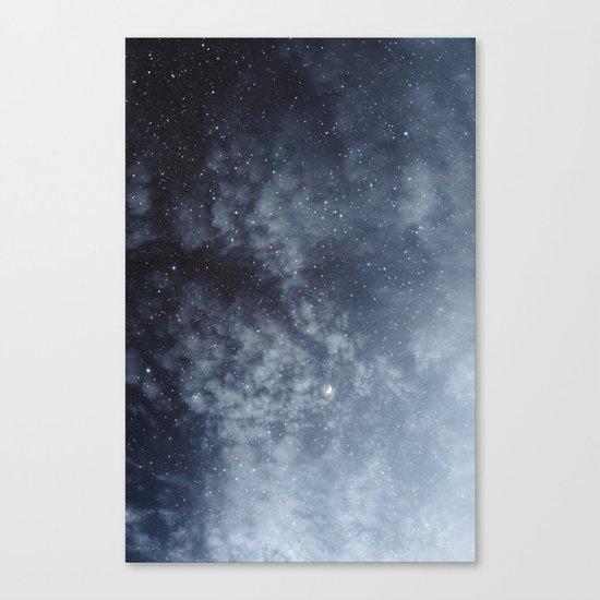 Blue veiled moon Canvas Print