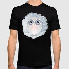Snowy Owl MEDIUM Black Mens Fitted Tee
