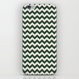 Geometrical forest green ivory modern chevron iPhone Skin