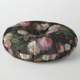 Jan Davidsz. de Heem Vintage Botanical Midnight Rose Garden Floor Pillow