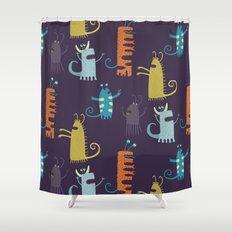 Secretly Vegetarian Monsters Shower Curtain