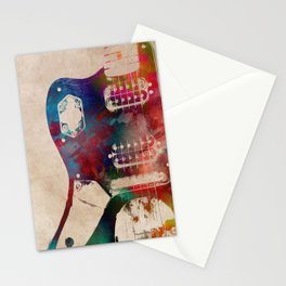 guitar art 1 Stationery Cards