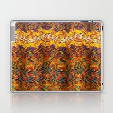 Multicolored wavy lines background Laptop & iPad Skin