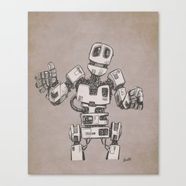 Sheepish Robot Canvas Print