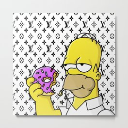 simpson Metal Print