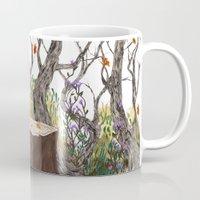 lydia martin Mugs featuring Lydia Martin, Autumn by amanda herzman