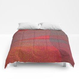 """Pastel Abstract Symmetrical Landscape"" Comforters"