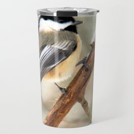 Clinging Chickadee Travel Mug