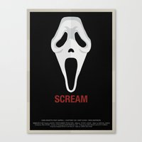 scream Canvas Prints featuring SCREAM by Alejandro de Antonio Fernández