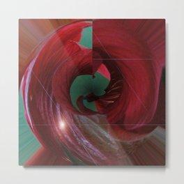 A Hibiscus Sandstorm Metal Print
