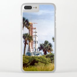 Apollo 8 - Tropical Launch Pad Florida Clear iPhone Case