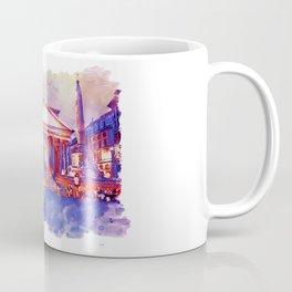 The Pantheon Rome Watercolor Streetscape Coffee Mug