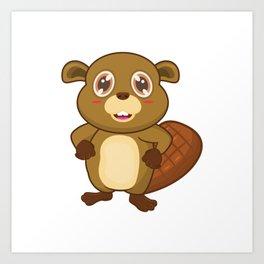 Beaver Comic Art Print