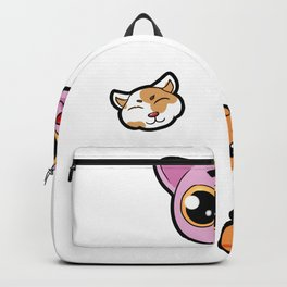 Caturday Cat Cats Kitty Paw Catlady Present gift Backpack