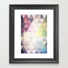 Geometric Groove Framed Art Print