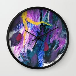 """""""Love & Rejection"""". Phthalo Green Series, No 6. Wall Clock"""