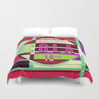 coca cola Duvet Covers featuring Cola - Vintage Soft Drink by Fernando Vieira
