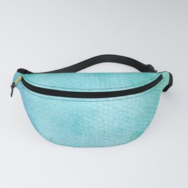 Blue Green Turquoise Watercolor Texture Fanny Pack