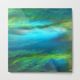 Abstract Blue and Green 1445 Metal Print