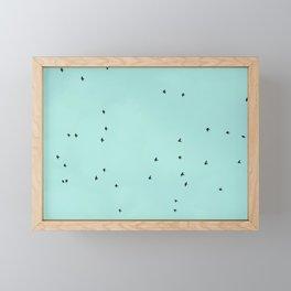 Flying birds 2 Framed Mini Art Print