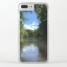 Kayak the Nippersink Creek Clear iPhone Case