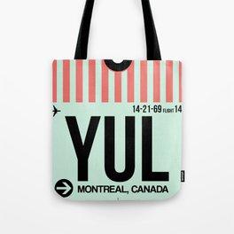 YUL Montreal Luggage Tag 2 Tote Bag