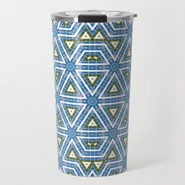 Sky and grass tribal kaleidoscope Travel Mug