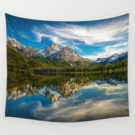 Sawtooth Range Morning Reflection Wall Tapestry