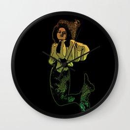Punching Mermaid Wall Clock