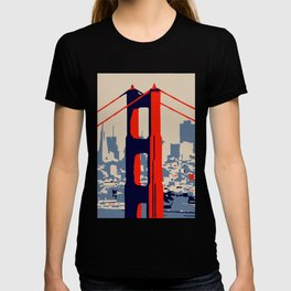 Golden gate bridge vector art T-shirt