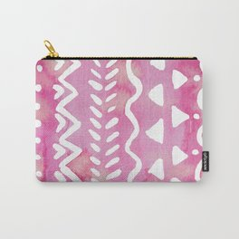 Loose boho chic pattern - pink Carry-All Pouch