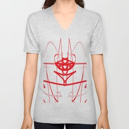 red line of the soul Unisex V-Neck