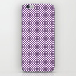 Dewberry and White Polka Dots iPhone Skin