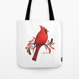 Male Cardinal Tote Bag