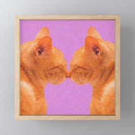 Love Valentine Cute Cats #decor #society6 #buyart Framed Mini Art Print
