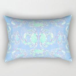 Watercolor blue crab Rectangular Pillow