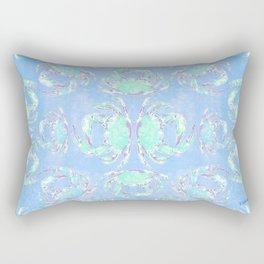 Watercolor blue crab Rectangular Pillow