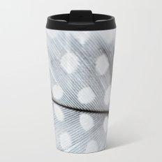 Polka Dot Feather Travel Mug