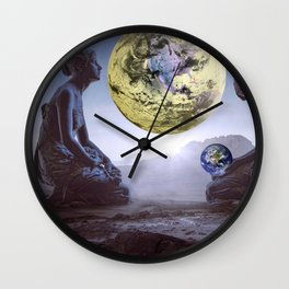 The World is in Our Hands Wall Clock