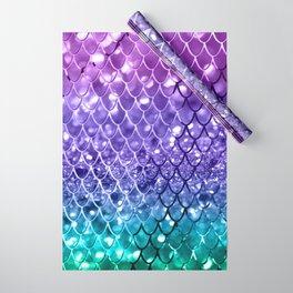 Mermaid Scales on Unicorn Girls Glitter #19 #shiny #decor #art #society6 Wrapping Paper