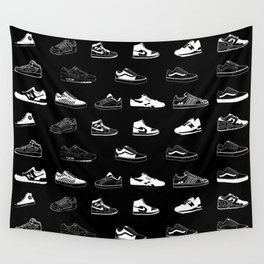 Black Sneaker Wall Tapestry