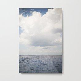 Ocean Sea Clouds Metal Print